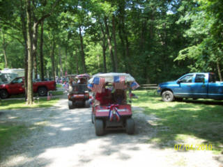 picture of a golf cart parade